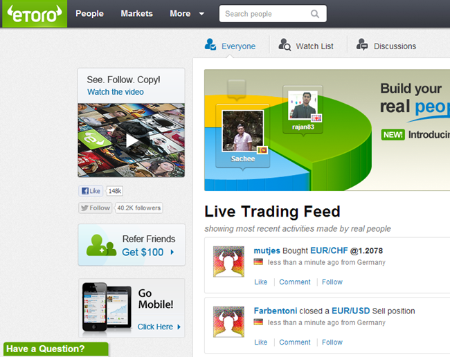eToro.com Open Book