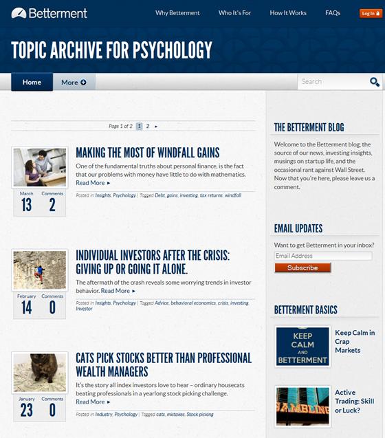 Betterment's Blog: psicology >>>