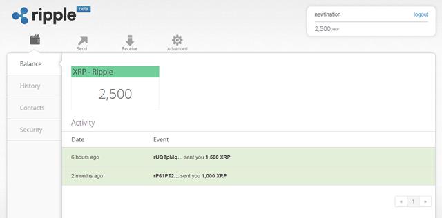 Newfination's Ripple wallet >>>