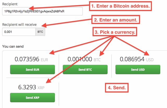 how to use bitcoin wallet to receive